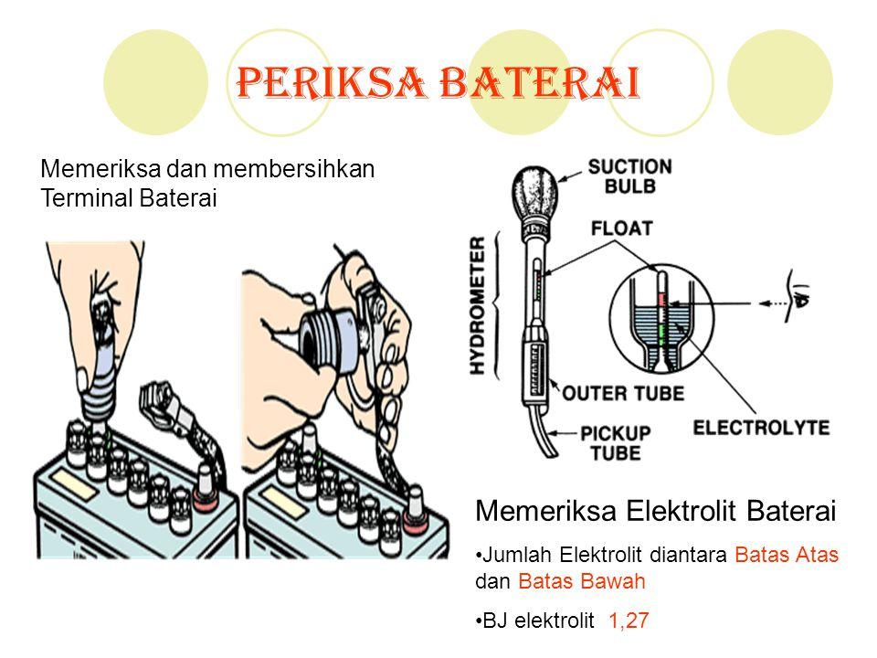 Periksa Baterai Memeriksa Elektrolit Baterai