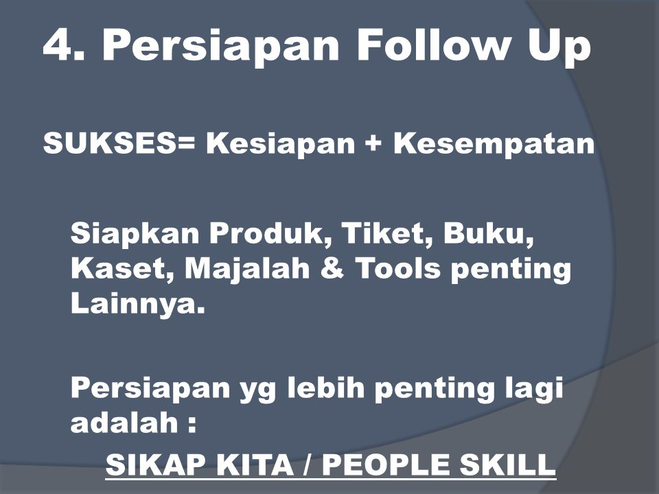SIKAP KITA / PEOPLE SKILL