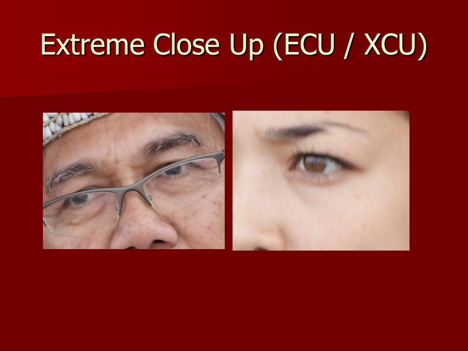 Extreme Close Up (ECU / XCU)