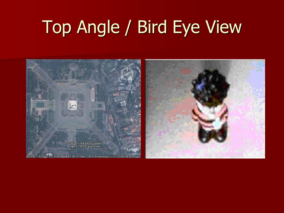 Top Angle / Bird Eye View