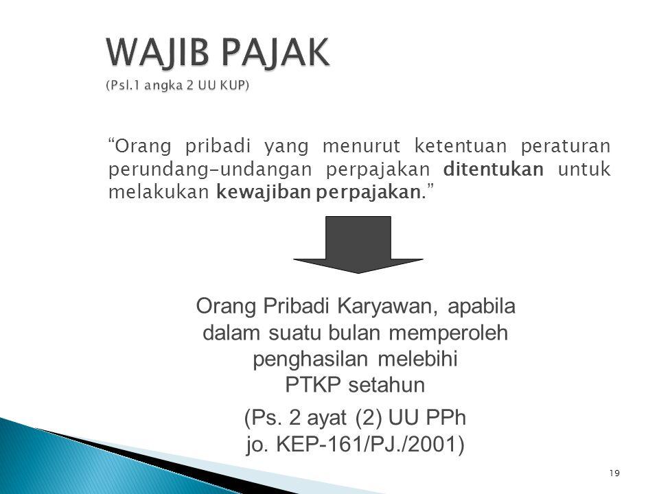 WAJIB PAJAK (Psl.1 angka 2 UU KUP)