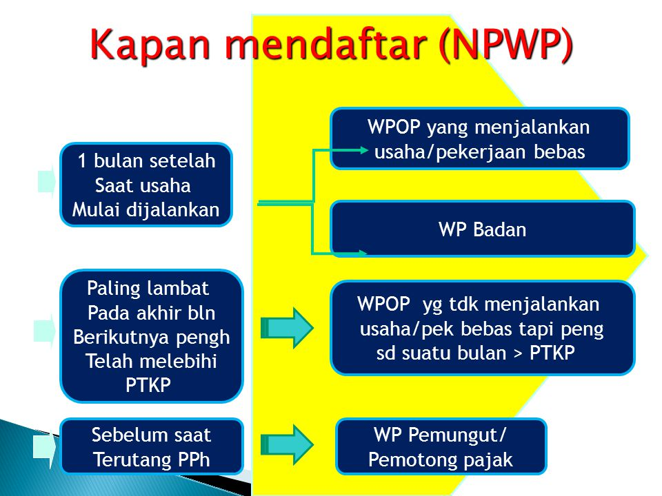 Kapan mendaftar (NPWP)