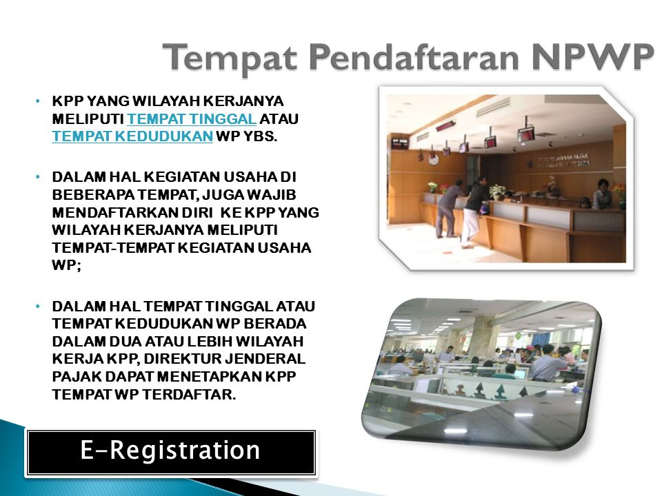 Tempat Pendaftaran NPWP