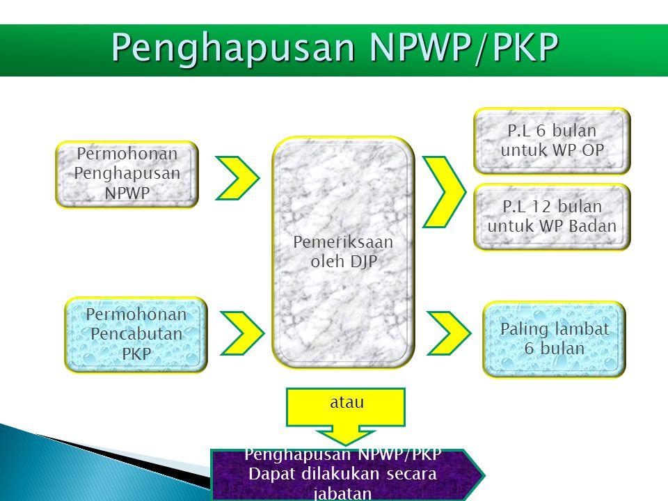 Penghapusan NPWP/PKP P.L 6 bulan untuk WP OP