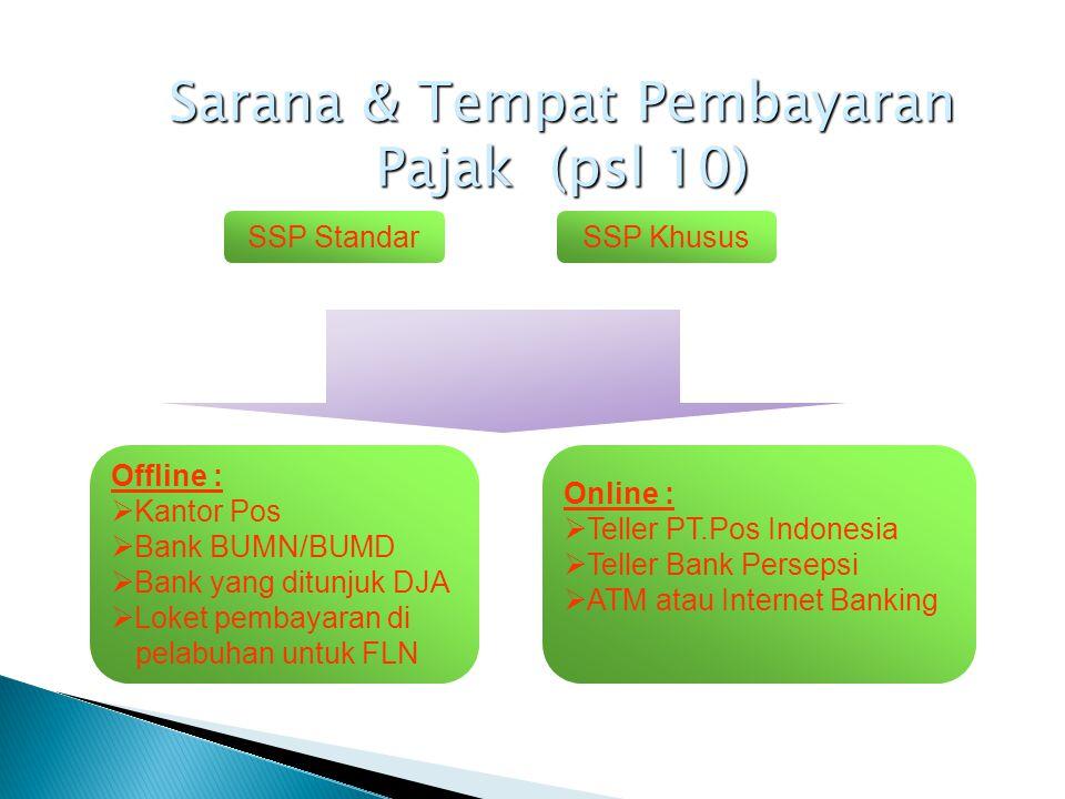 Sarana & Tempat Pembayaran Pajak (psl 10)
