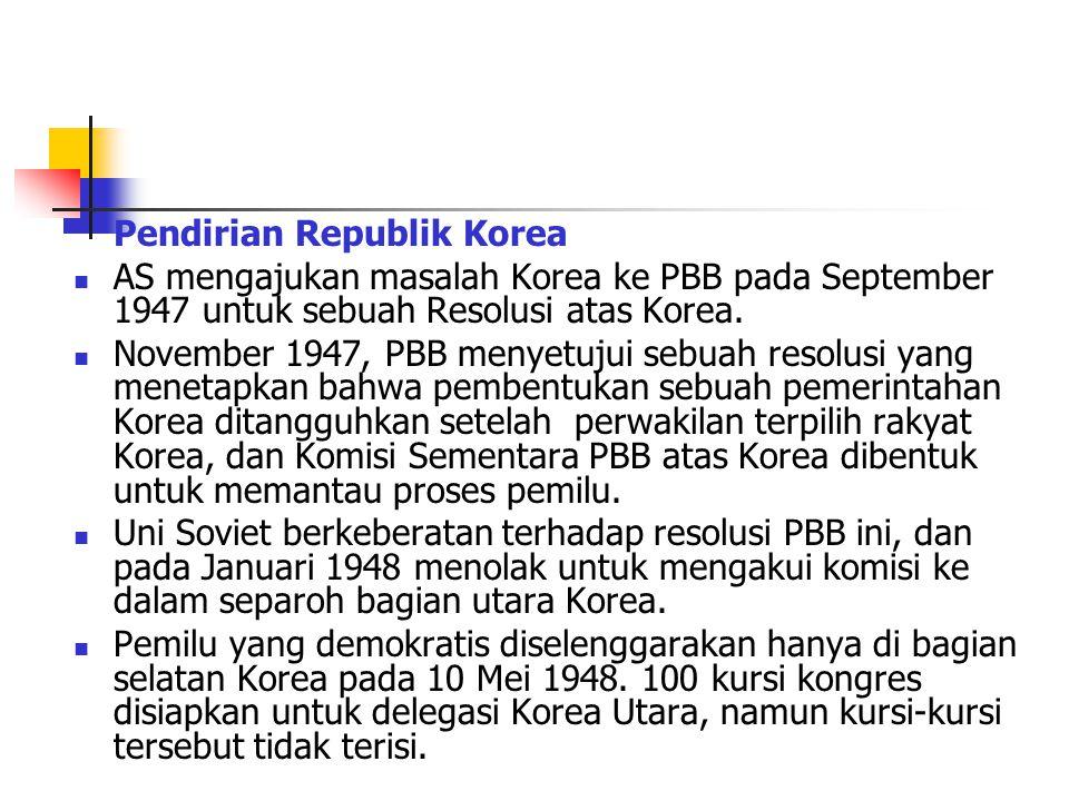 Pendirian Republik Korea