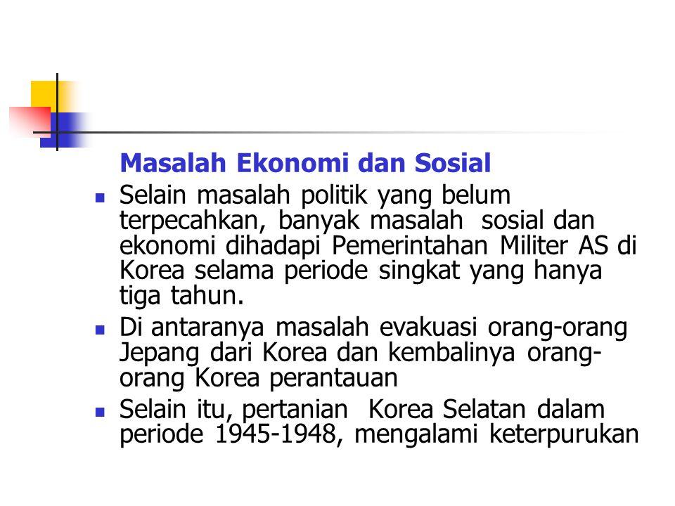 Masalah Ekonomi dan Sosial