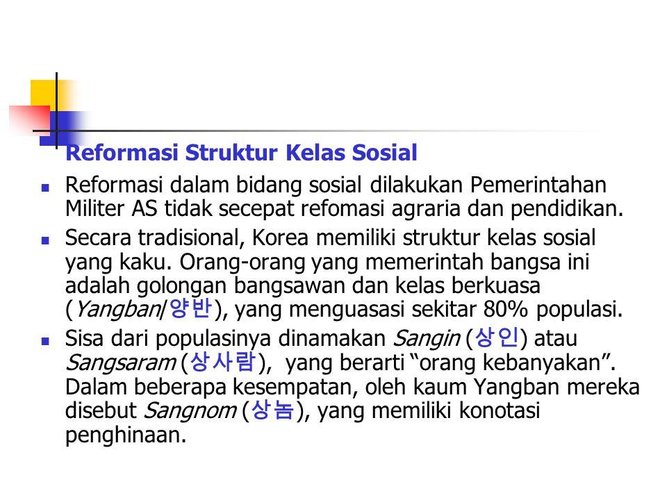 Reformasi Struktur Kelas Sosial