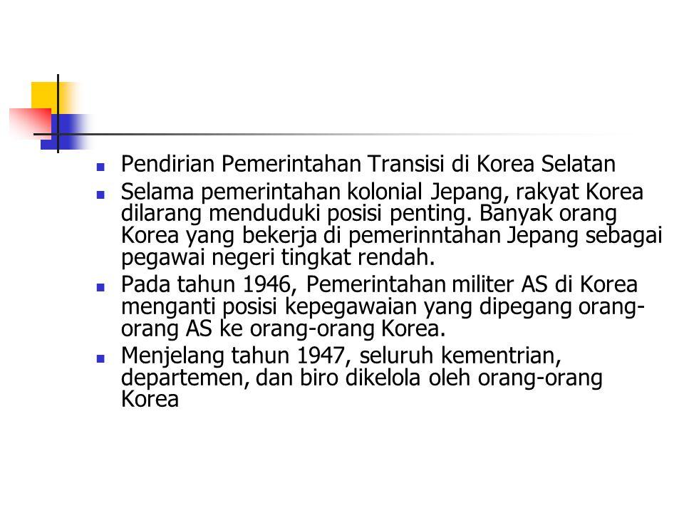 Pendirian Pemerintahan Transisi di Korea Selatan