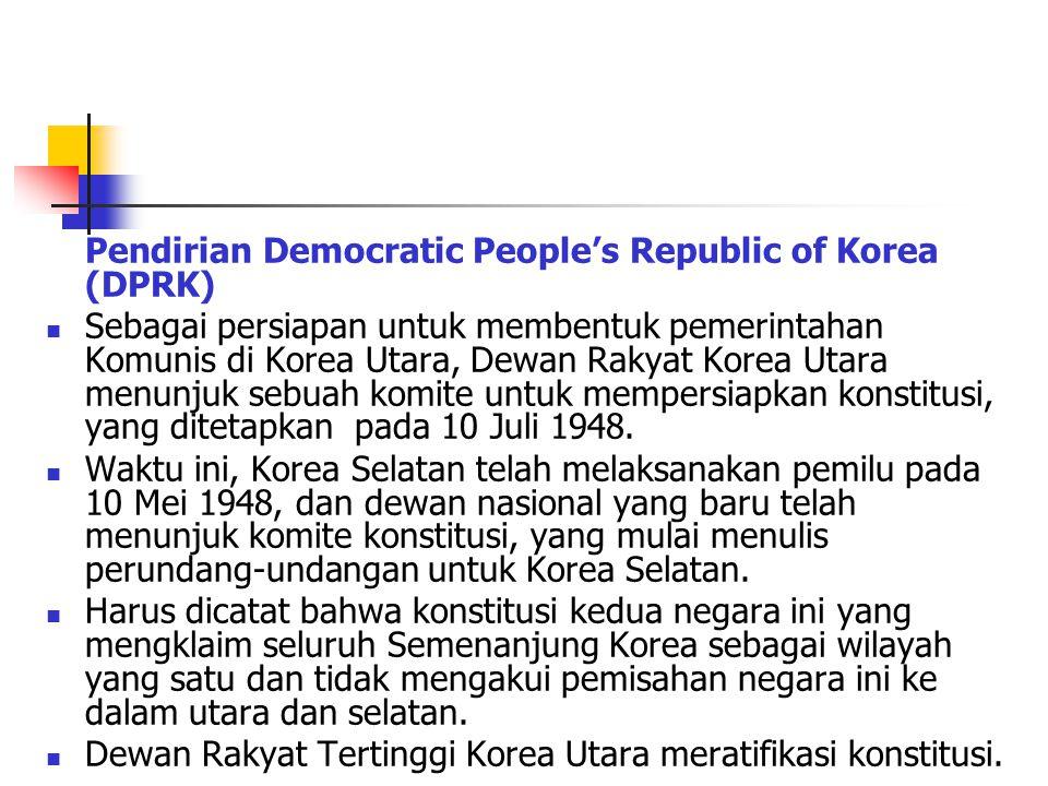 Dewan Rakyat Tertinggi Korea Utara meratifikasi konstitusi.