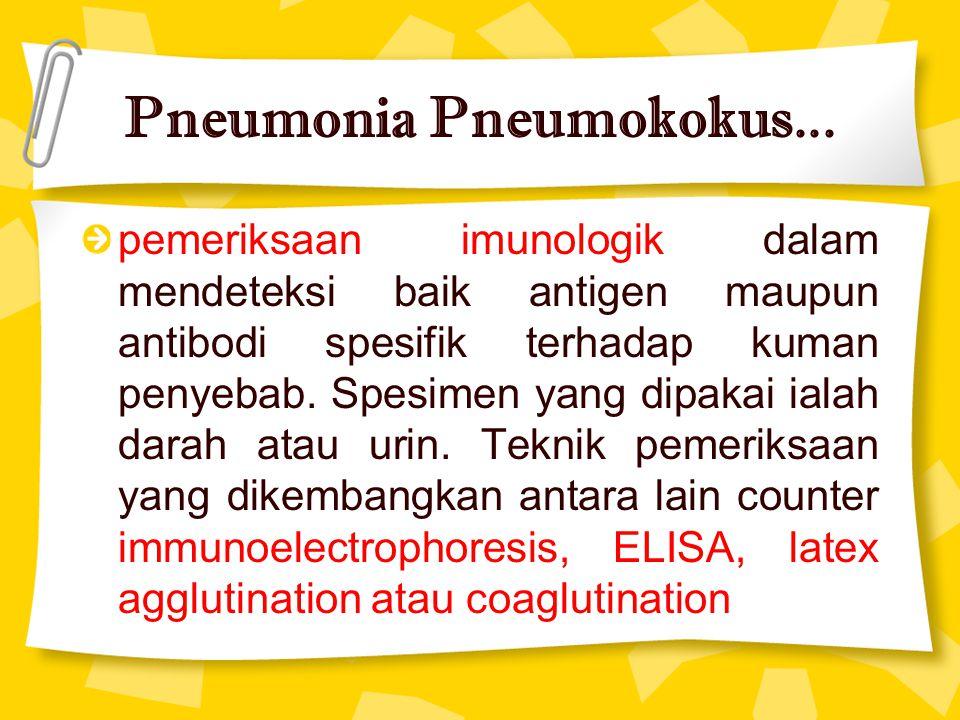Pneumonia Pneumokokus...