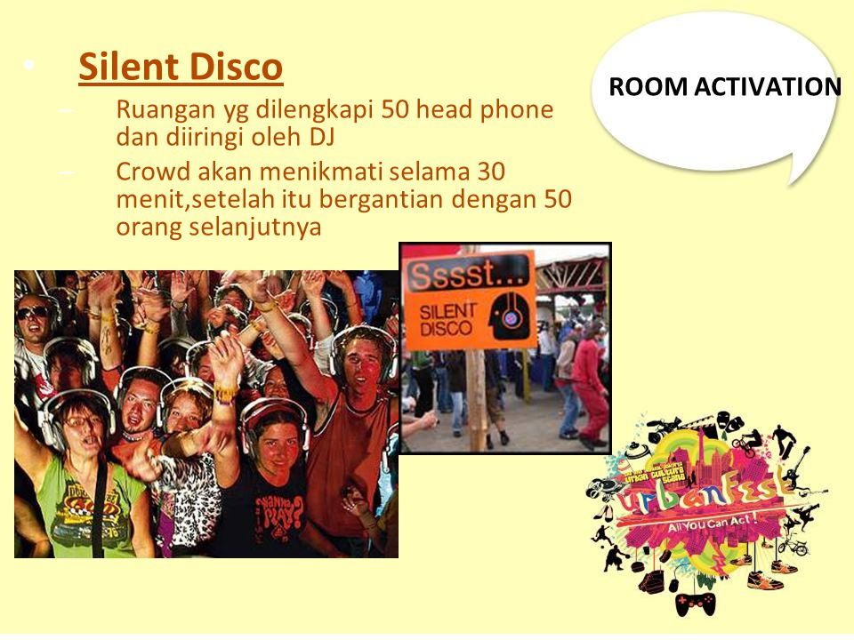 Silent Disco ROOM ACTIVATION