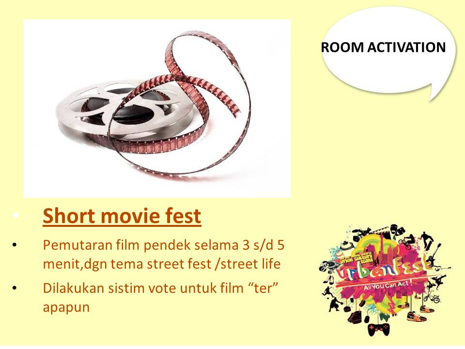 Short movie fest ROOM ACTIVATION