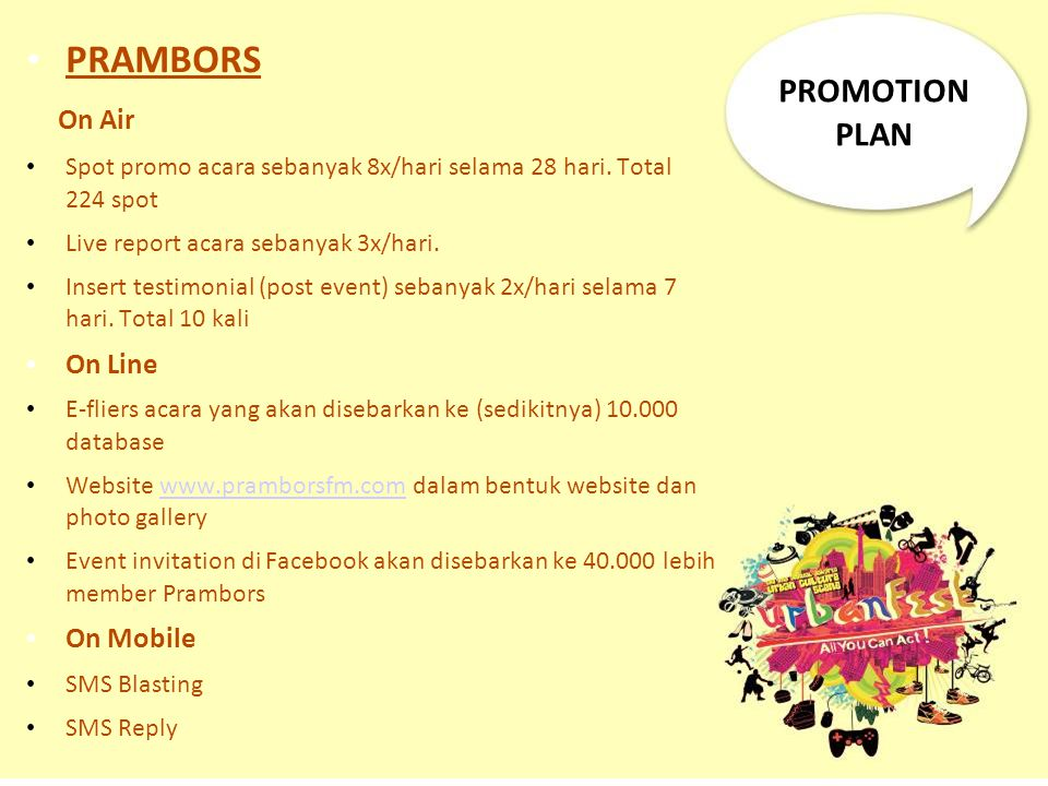 PRAMBORS On Air PROMOTION PLAN On Line On Mobile