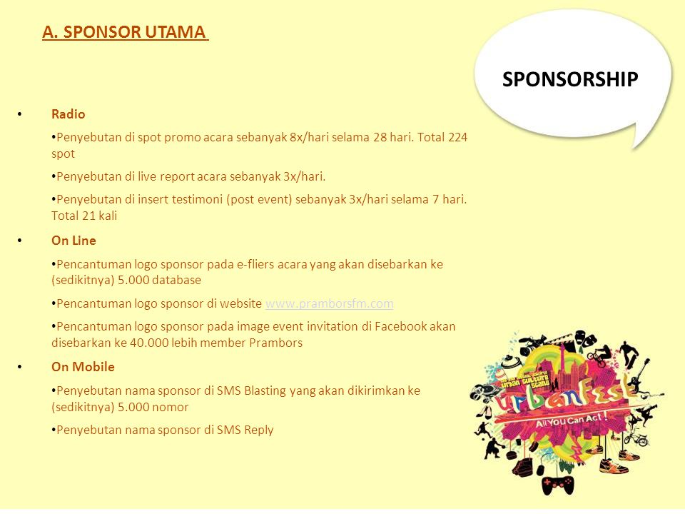 SPONSORSHIP A. SPONSOR UTAMA Radio On Line On Mobile