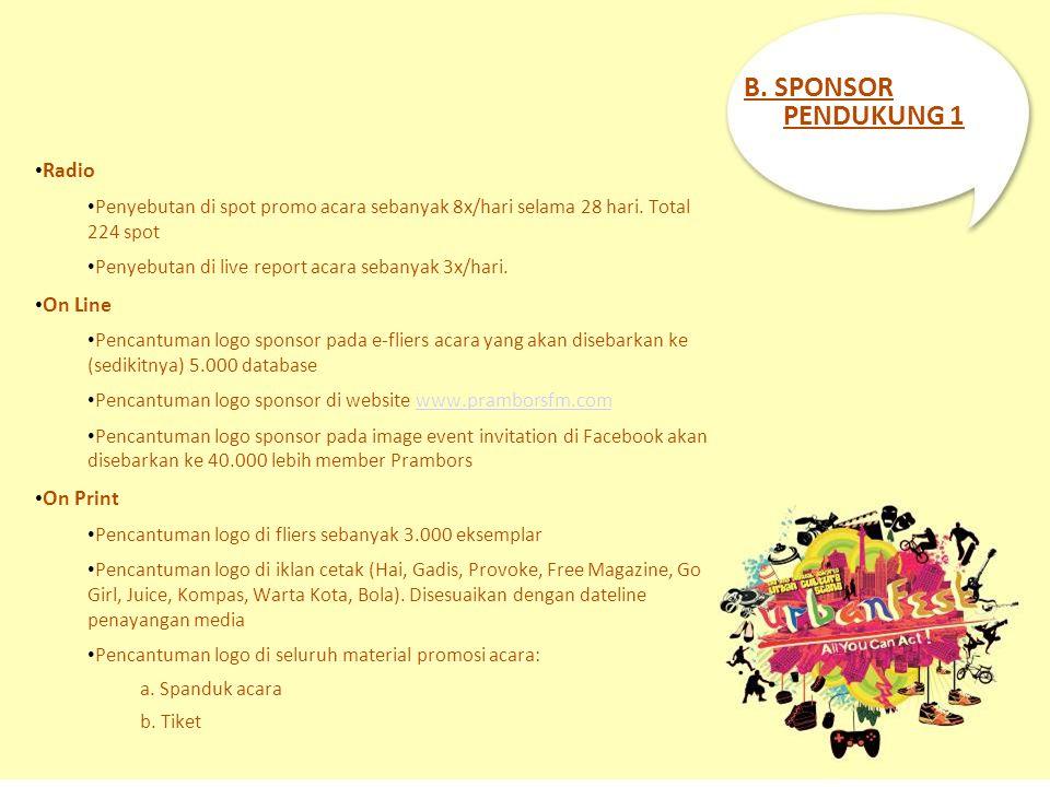 B. SPONSOR PENDUKUNG 1 Radio On Line On Print