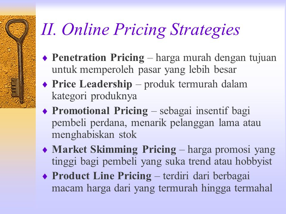 II. Online Pricing Strategies