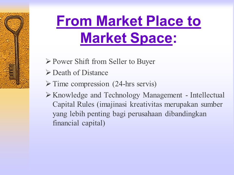 From Market Place to Market Space: