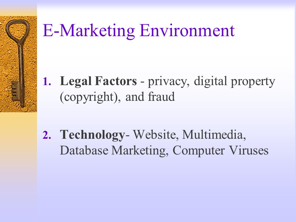 E-Marketing Environment