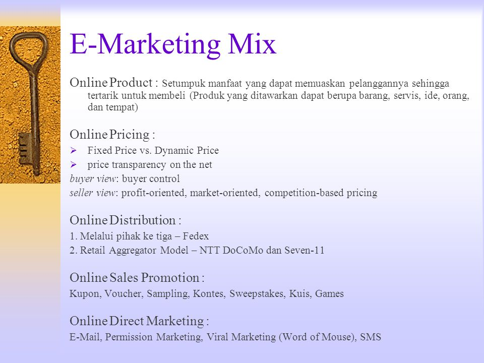 E-Marketing Mix