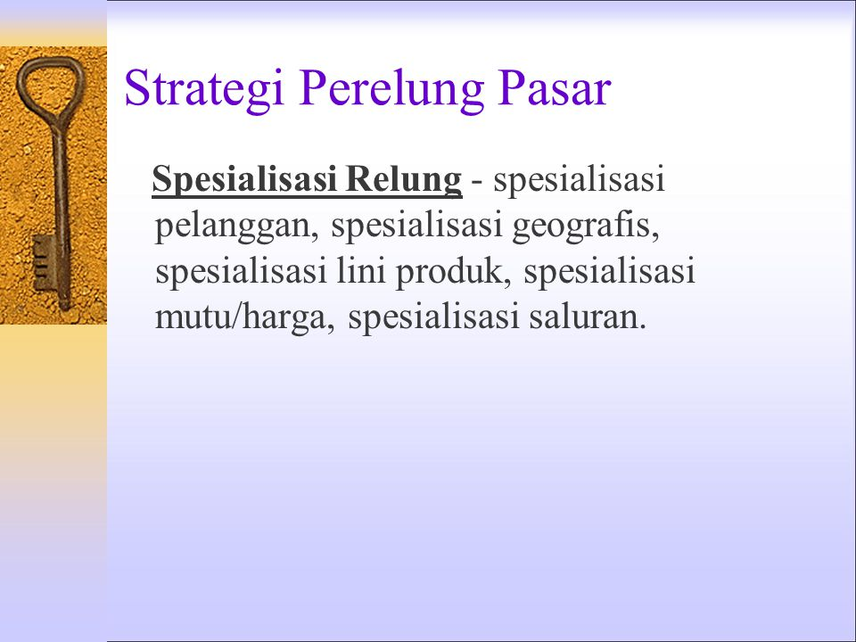 Strategi Perelung Pasar