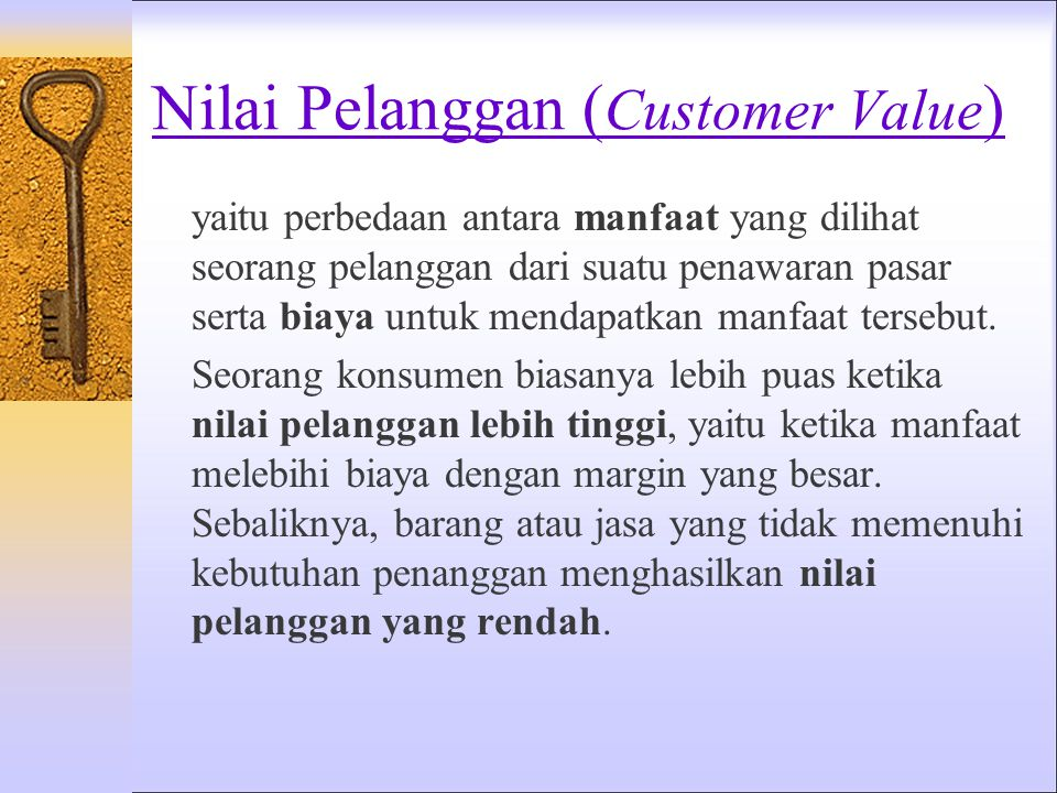 Nilai Pelanggan (Customer Value)