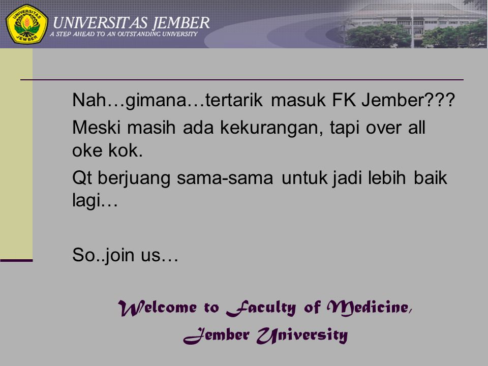 Welcome to Faculty of Medicine,