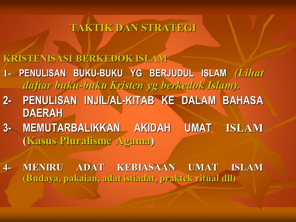 2- PENULISAN INJIL/AL-KITAB KE DALAM BAHASA DAERAH