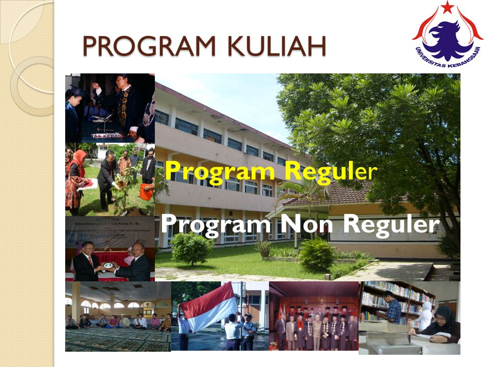 PROGRAM KULIAH Program Reguler Program Non Reguler Kelas Reguler