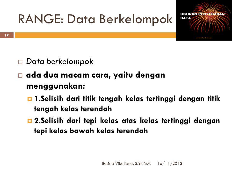 RANGE: Data Berkelompok