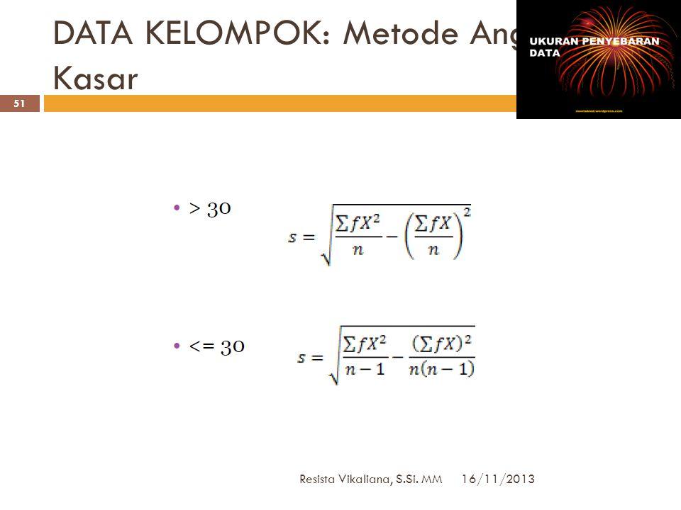 DATA KELOMPOK: Metode Angka Kasar