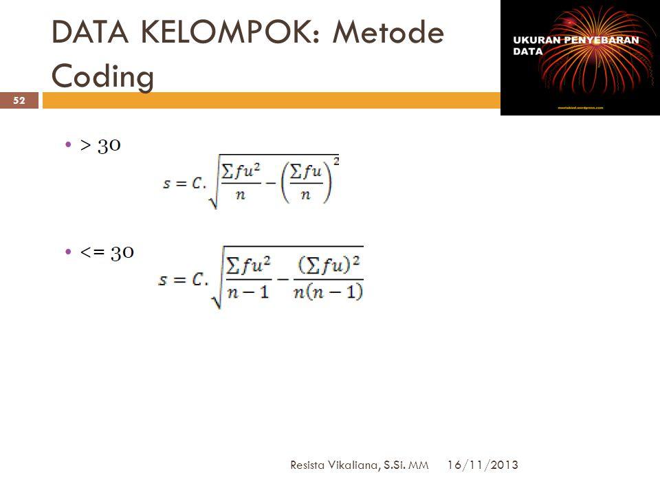 DATA KELOMPOK: Metode Coding