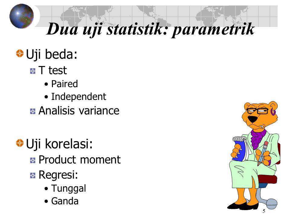 Dua uji statistik: parametrik