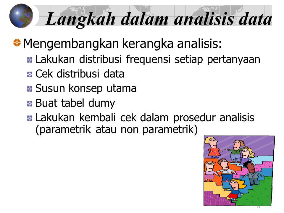 Langkah dalam analisis data