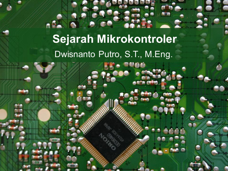 Sejarah Mikrokontroler