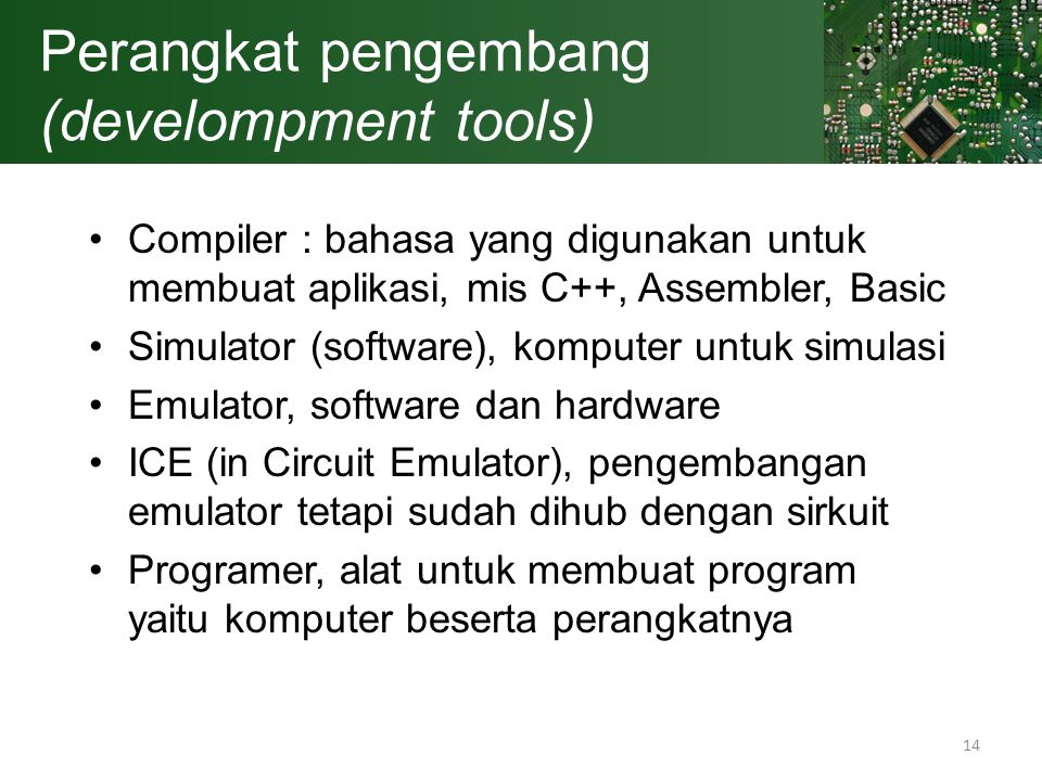 Perangkat pengembang (develompment tools)