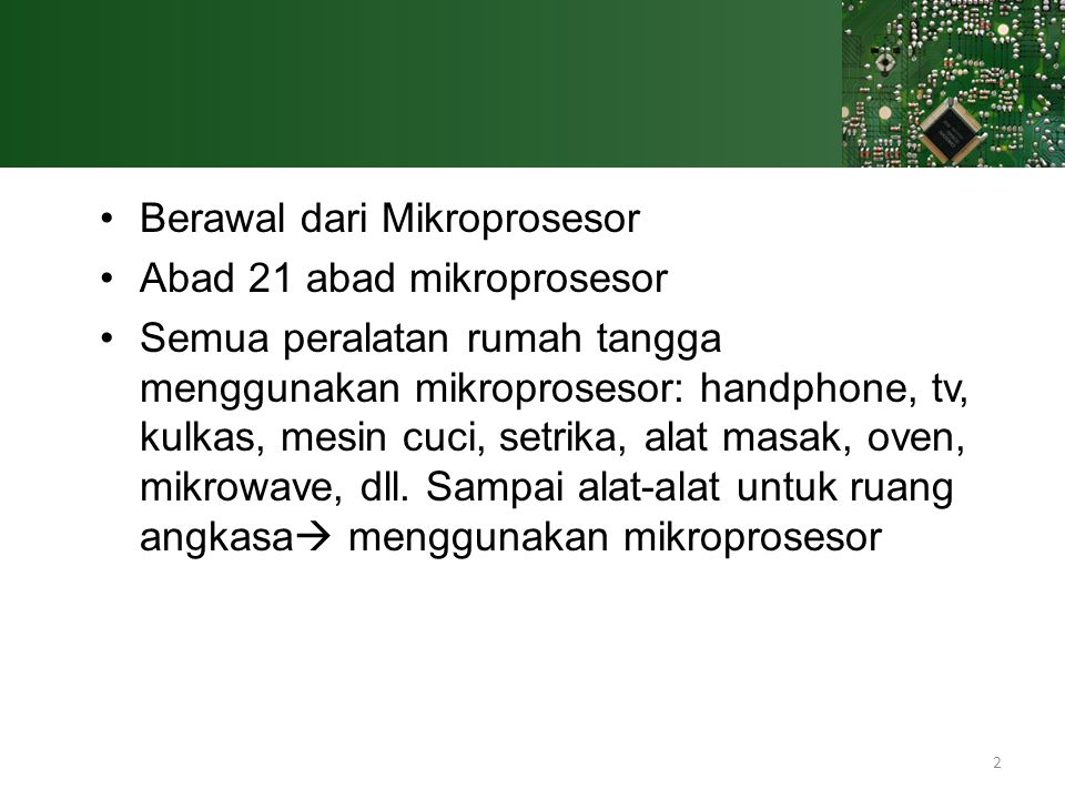 Berawal dari Mikroprosesor
