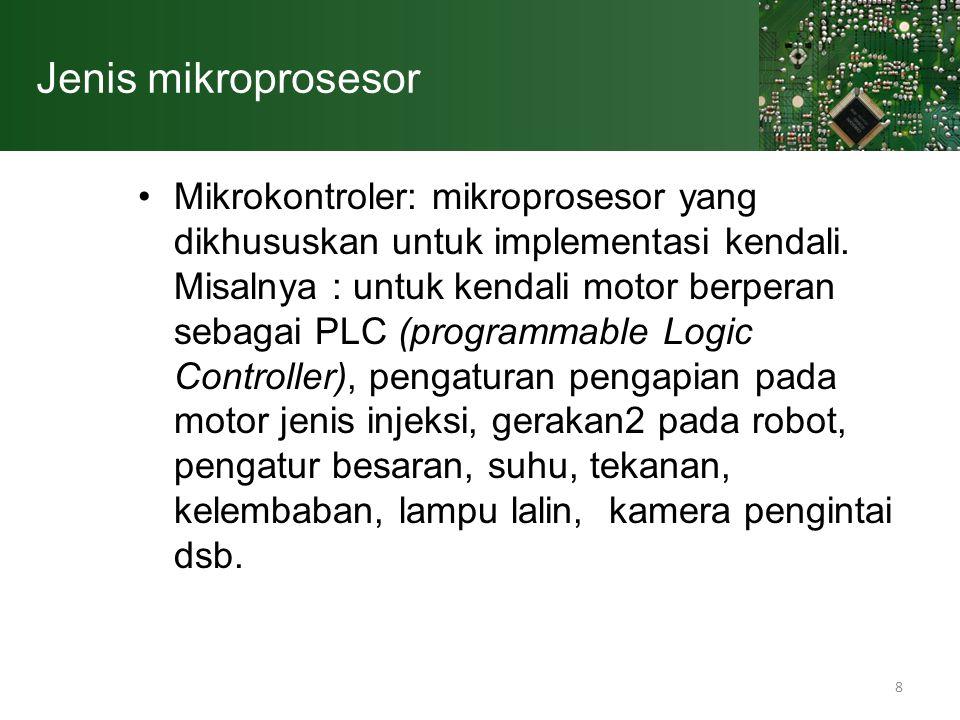 Jenis mikroprosesor