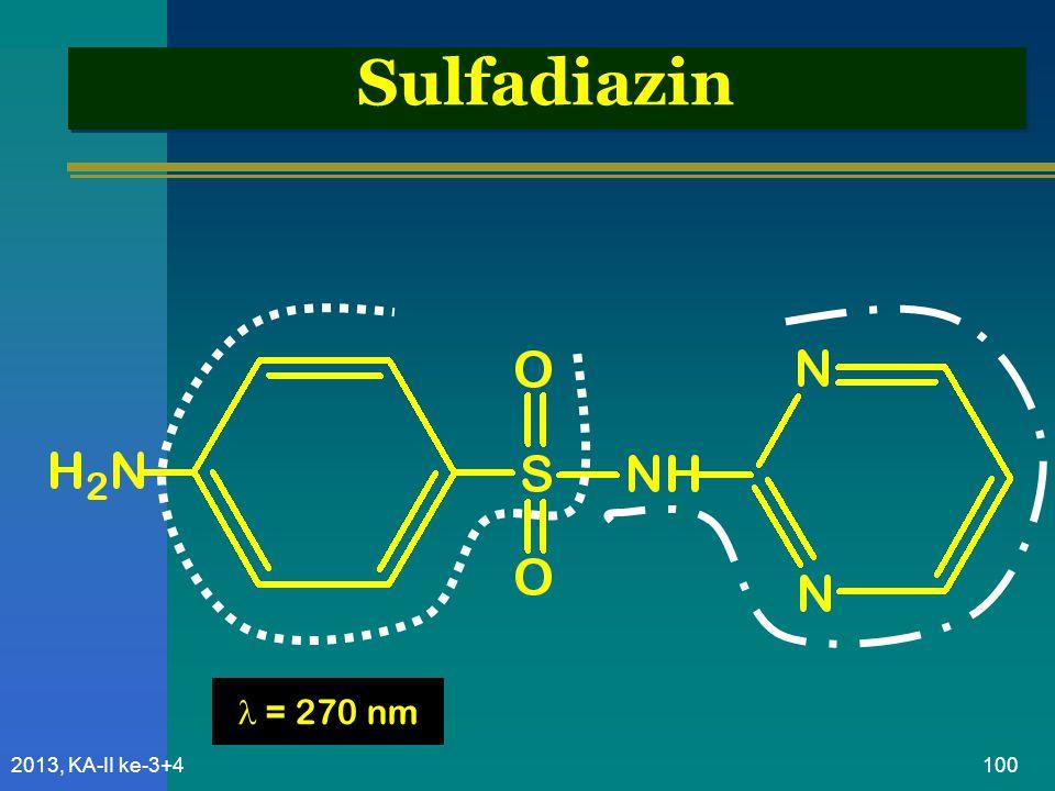 Sulfadiazin  = 270 nm 2013, KA-II ke-3+4