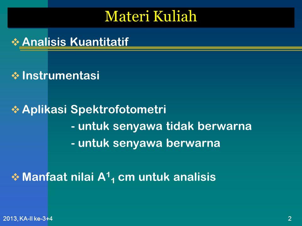Materi Kuliah Analisis Kuantitatif Instrumentasi