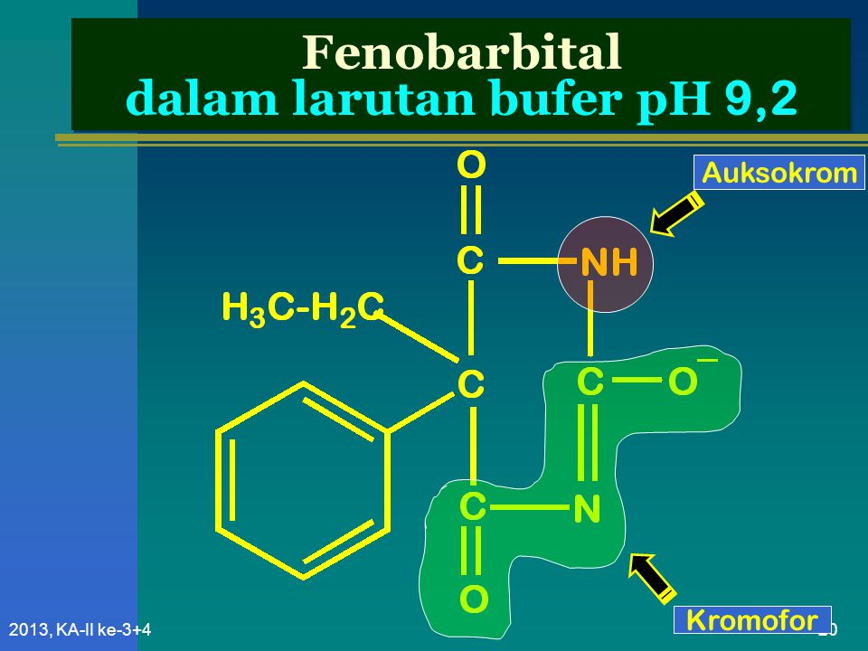 Fenobarbital dalam larutan bufer pH 9,2