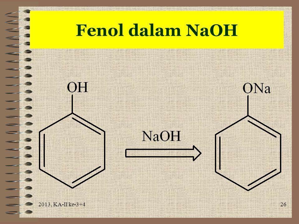 Fenol dalam NaOH 2013, KA-II ke-3+4