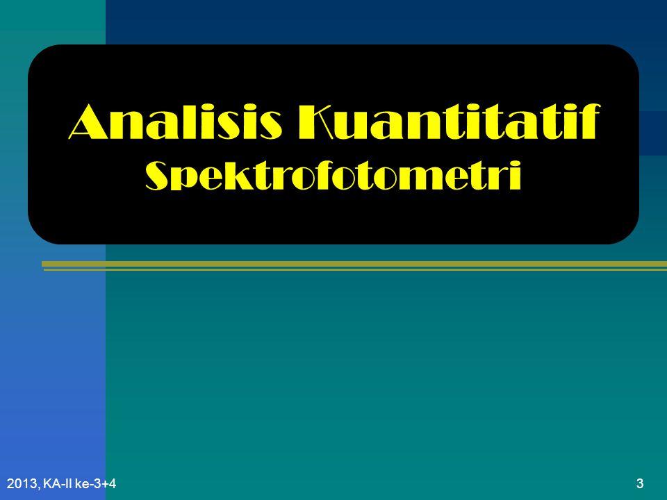 Analisis Kuantitatif Spektrofotometri 2013, KA-II ke-3+4