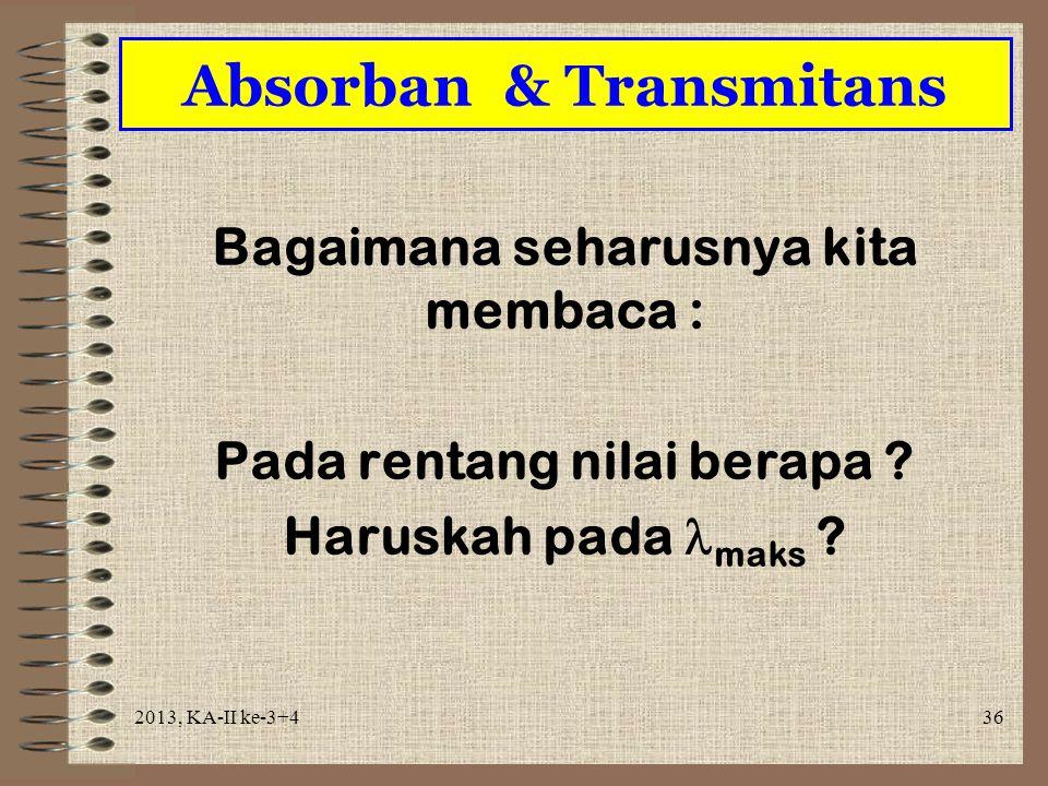 Absorban & Transmitans