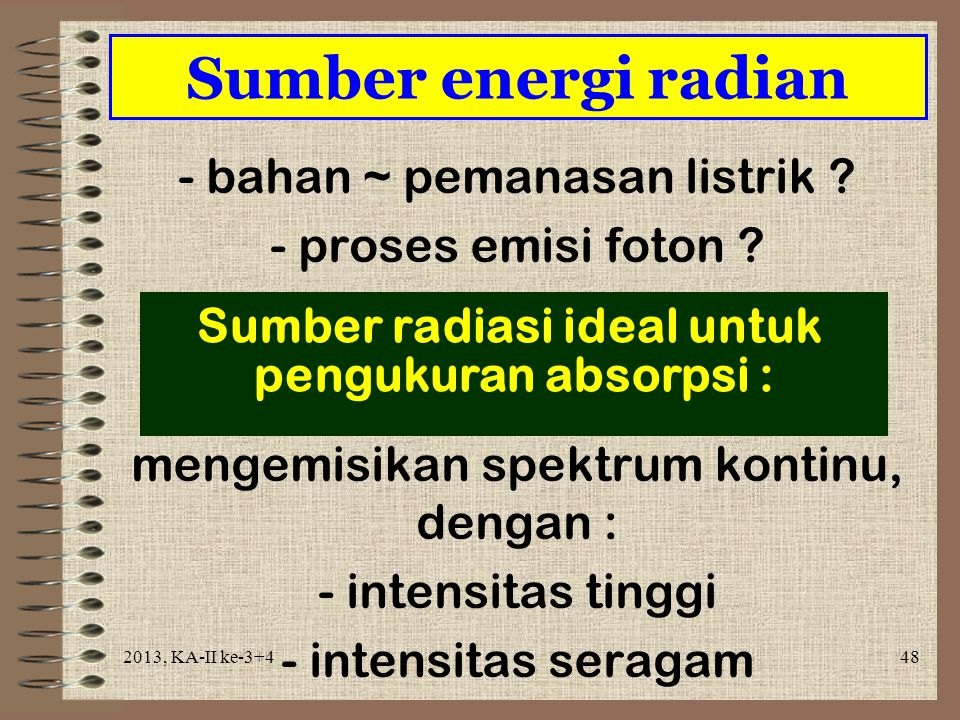Sumber radiasi ideal untuk