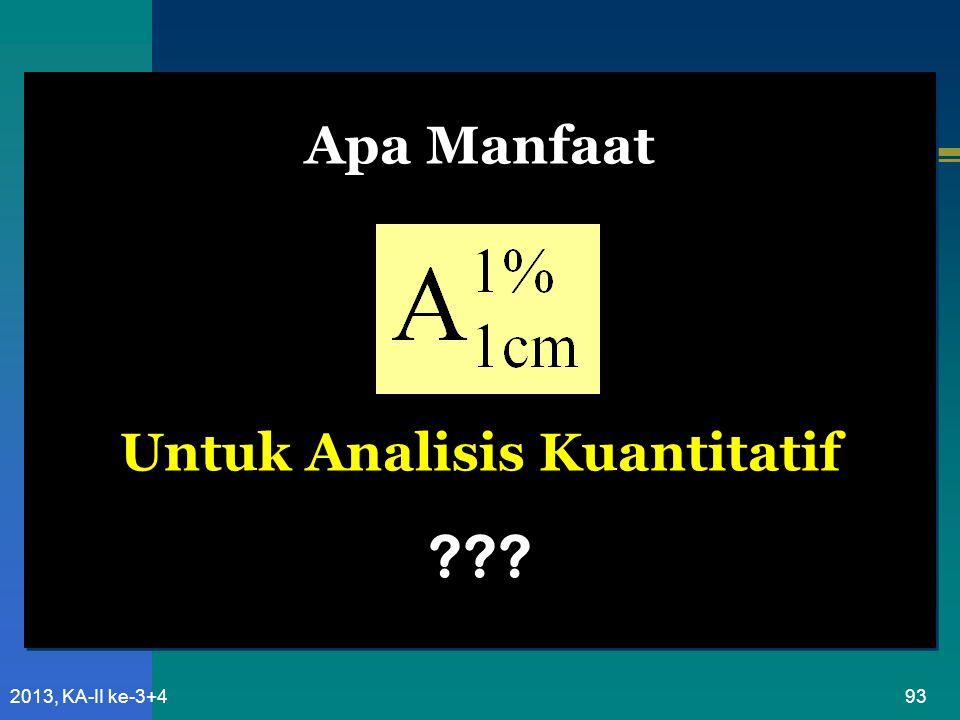Apa Manfaat Untuk Analisis Kuantitatif