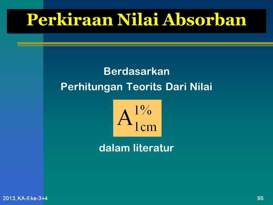 Perkiraan Nilai Absorban
