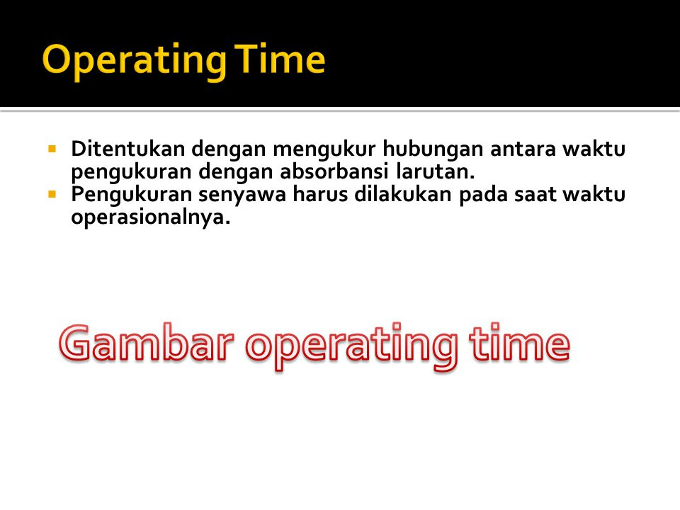 Gambar operating time Operating Time