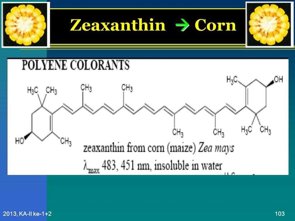 Zeaxanthin  Corn 2013, KA-II ke-1+2