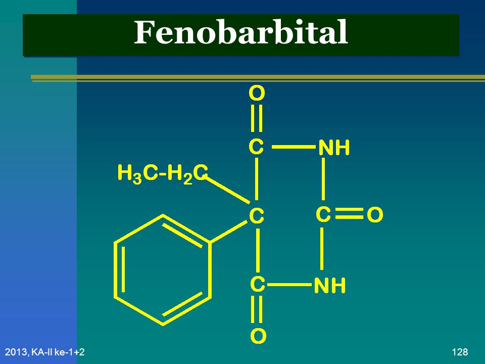 Fenobarbital 2013, KA-II ke-1+2
